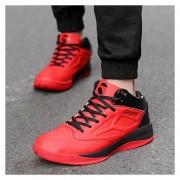 Zapatos De Baloncesto Para Hombre TENIS ZAPATILLAS Calzado Deportivo -Rojo