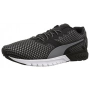 PUMA Men's Ignite Dual Shift Cross-Trainer Shoe, Puma Black/Quarry, 10 M US