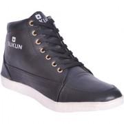 Sukun Mens Black Lace-up Smart Casuals Shoes