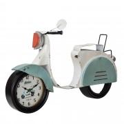 [en.casa]® Nástěnné hodiny ve tvaru motocyklu - analogové - 78,5 x 14,5 x 51 cm - barevné - sklo