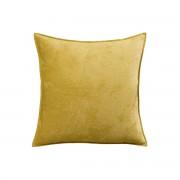 Miliboo Coussin en velours jaune curry 45 x 45 cm ALOU