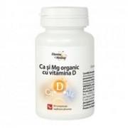 .Calciu si Magneziu Organic cu Vitamina D Dacia Plant 60cpr