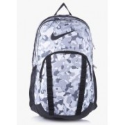 Nike Brasilia-7 Graphic XL 34 L Backpack(Grey)