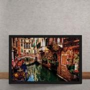 Quadro Decorativo Canal de Veneza 25x35