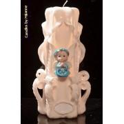 Designkaarsen com Geboorte Kaars, handgesneden, 23 cm 51614 - kaarsen