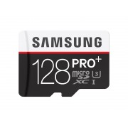 Samsung MicroSD card PRO+ series with Adapter, 128GB , Class10, UHS-1 Grade1 , Speed Read 90MB/s,Speed Write 80MB/s