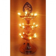 DIWALI New Electric Gold Bulb Lights Diya/Deep/Deepak for Pooja/Puja/Mandir Diwali Festival Decoration (3 Layer)