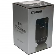 Lente Canon EF-S 55-250mm f/4-5.6 IS STM Lens 55 250 F 4 5.6 - Negro