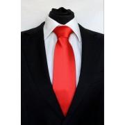 Pánská červená klasická kravata - 8 cm