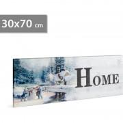 FAMILY POUND - Tablou cu LED - peisaj de iarna Family, 2 x AA, 30 x 70 cm