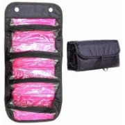Play Run Professional Toiletry Roll Up Cosmetic Bags, Travel Organizer Makeup Bag Travel Toiletry Kit(Black)