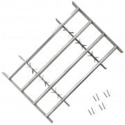 vidaXL Регулируема решетка за прозорец с 4 напречни лоста, 700-1050 мм