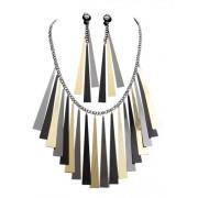 Vegaoo Antikes Schmuck-Set für Damen Ägypten schwarz-grau-gold
