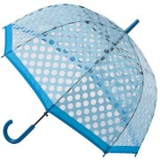 Blooming Brollies Umbrella Clear Dome cu Light Blue POES puncte POESBB