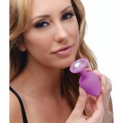 Purple Pleasure 3 Piece Silicone Anal Plugs with Gems