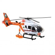 """Dickie Toys Light and Sound SOS Rescue Helicopter with Moving Rotor Blades, 25"""""""
