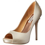 Badgley Mischka Women's Kiara Platform Pump Ivory 7.5 B(M) US