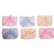 Premium Quality New born baby nappies. Waterproof Langot for 0-6 Months babies Pack Of 6. (Assorted color and design)