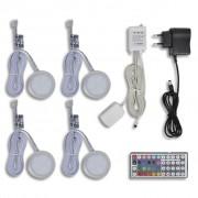 vidaXL Комплект LED светлини, с включени дистанционно, адаптер и др.