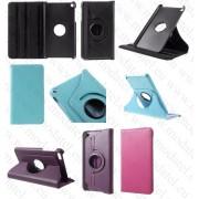 """Huawei Mediapad T1 (T1-701u) 7.0""""/MediaPad T2 7.0"""" (кожен калъф) 'Rotate style' (тъмно розов)"""