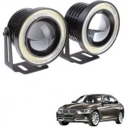 Auto Addict 3.5 High Power Led Projector Fog Light Cob with White Angel Eye Ring 15W Set of 2 For BMW 3 Series