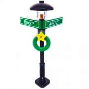 MinifigurePacks: Lego City/Town STREET SIGN - LAMP POST Intersection of AFOL & Brick