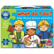 Set mai multe puzzle Meserii 3 piese WHAT DO I DO