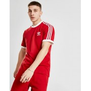 adidas Originals 3-Stripes California Short Sleeve T-Shirt Heren - Rood - Heren