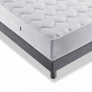 My Matelas Literie MY MATELAS Verlaine Taupe (matelas + sommier + pieds) Taille 2 x 80 x 200 cm