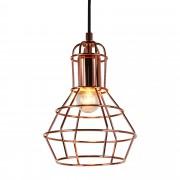 [lux.pro]® Декоративен пендел - индустриален стил, Lisszabon 23 x 17 cm , Метал, Бакърен цвят