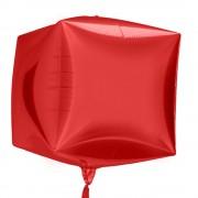 Balon folie cubez 3D rosie - 45cm, Northstar Balloons 01014