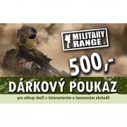 MILITARY RANGE   Dárkový poukaz TACTICAL 500 Kč