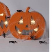 Merkloos Knutselsetje pompoen met licht en spinnenrag