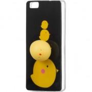 Husa telefon hurtel Etui Huawei P8 Lite Squishy animal żelowy pokrowiec gumowy gniotek zabawka 4D kurczak
