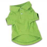 """Zack & Zoey Cotton Polo Shirt for Dogs, 8"""" X-Small, Parrot Green"""