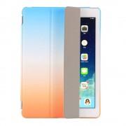 Shop4 - iPad 9.7 (2018) Hoes - Smart Book Case Regenboog Blauw Oranje