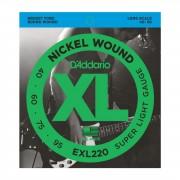 D'Addario 4 cuerdas para bajo XL níquel 40-095 40-60-75-95, EXL220