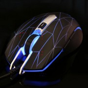 AULA Series Secretly Struggle USB Wired Colourful Light Optical 6D Game Mouse Maximum Resolution of 2000 DPI(Silver)