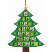 Calendar Advent Craciun model Brad textil cm 64 x 81 H
