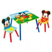 Mickey Mouse houten tafel met stoeltjes