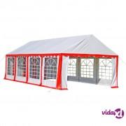 vidaXL Šator za zabave 8 x 4 m crveni