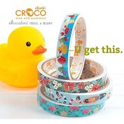 Chic CROCO Glossy Printed Sticker Roll, Cute Duck