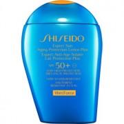Shiseido Sun Care Expert Sun Aging Protection Lotion Plus WetForce lotiune solara pentru fata si corp SPF 50+ 100 ml