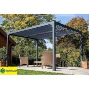 Pergola bioclimatique réglable 3,60x3m en aluminium