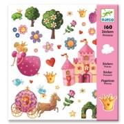 Zestaw kreatywny 160 sztuk naklejek KSIĘŻNICZKA dla dziewczynek DJECO DJ08830