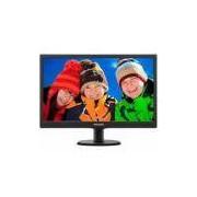 Monitor Led 18,5' Philips 193v5lsb2 Widescreen, Vga - Preto