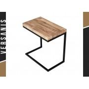 Kapelańczyk Mały stolik Loft Funcional z drewnianym blatem - Kapelańczyk