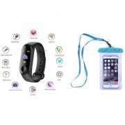 M3 fitness band and Water pouch |Smart phones compatiable fitness band|| Heart rate band||Health Watch|| Calories Tracker Band|| Step Count Band||fitness tracker|| bluetooth smart band ||Wrist Watch band|| smart band ||With Alarm System||Best in Quality