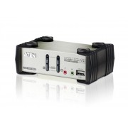 ATEN 2-Port PS/2-USB VGA/Audio KVMP Switch with OSD