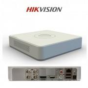 DVR Hikvision DS-7104HGHI-F1, 4-ch BNC interface (1.0Vp-p, 75 ohm), 720p ,G.711u, -ch, RCA (2.0 Vp-p, 1 Kohm) (using audio input), 1-ch RCA(Linear,1kohm), TCP/IP, PPPoE, DHCP, EZVIZ Cloud P2P, DNS, DDNS, NTP ,SADP, SMTP,SNMP, NFS, iSCSI, UPnP™, HTTPS, 1 S